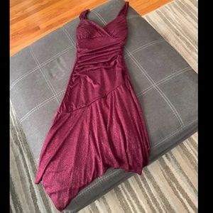New Glittery purple dress small